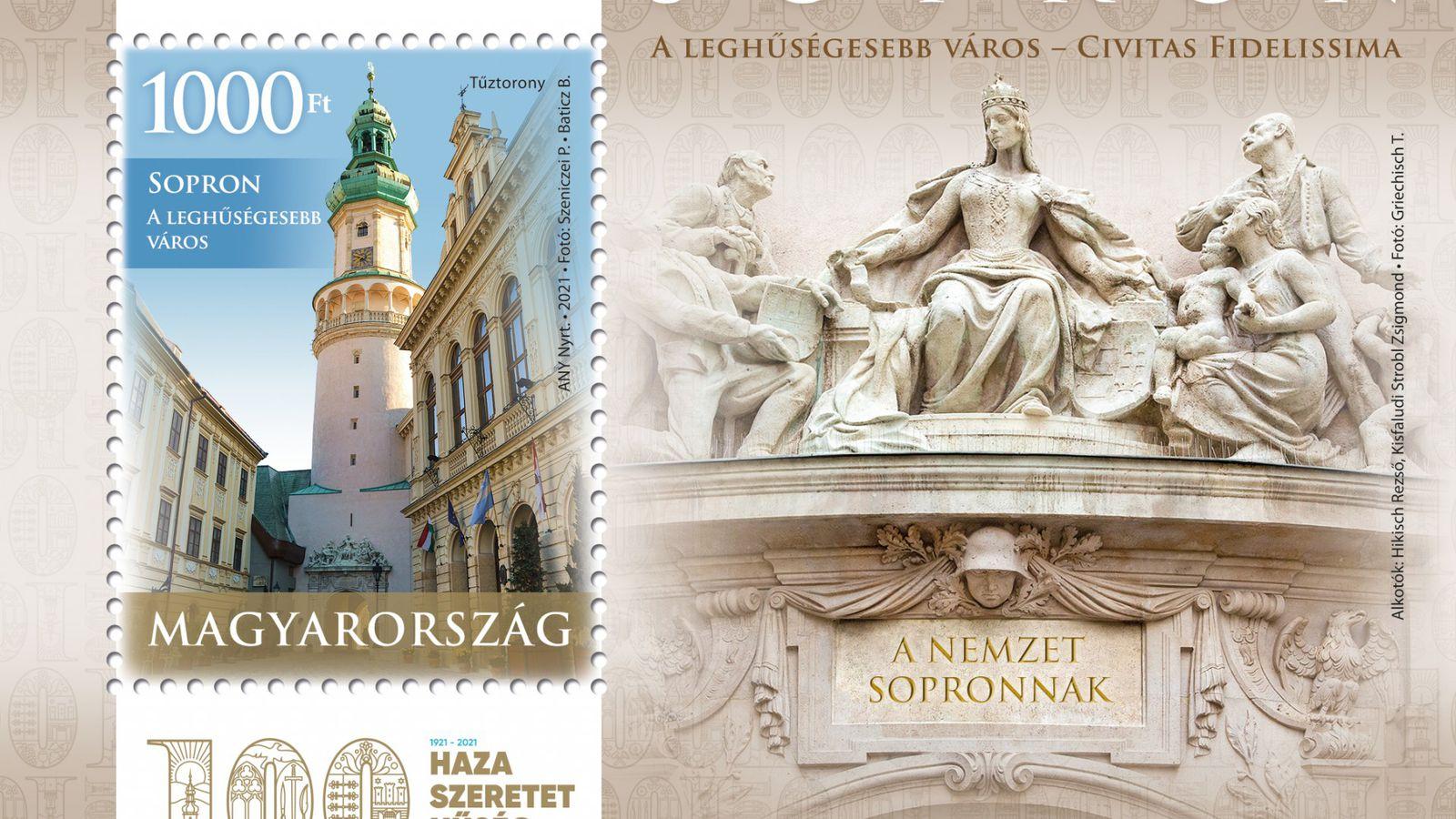 Emlékbélyeggel tiszteleg Sopron hűsége előtt a Magyar Posta