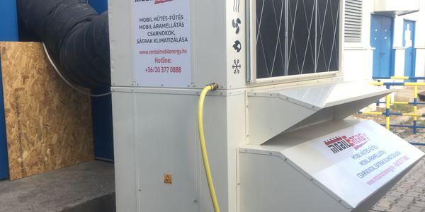 Csarnok klimatizálás - mobil klímaberendezés 40 kW
