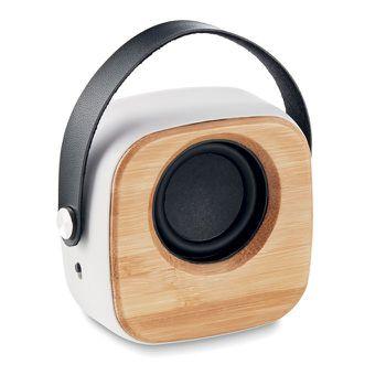 3W hangszóró bambusz fronttal