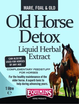 EQUIMINS OLD HORSE DETOX-'Öreg ló' gyógynövényi oldat 1L