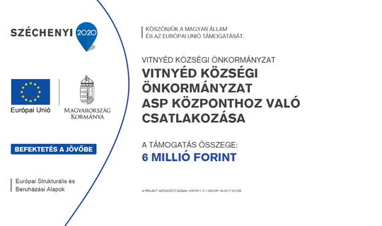 Vitnyéd községi önkormányzat ASP központhoz való csatlakozása