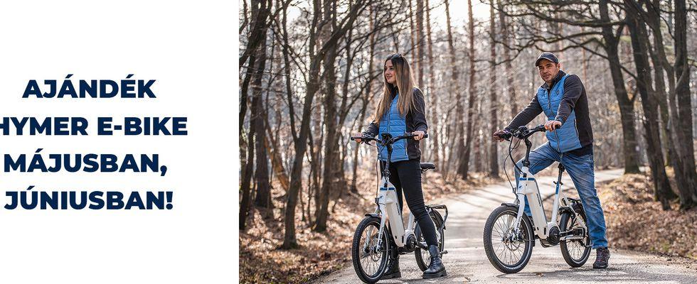 Hymer e-Bikeok a lakóautó bérlés mellé májusban és júniusban!