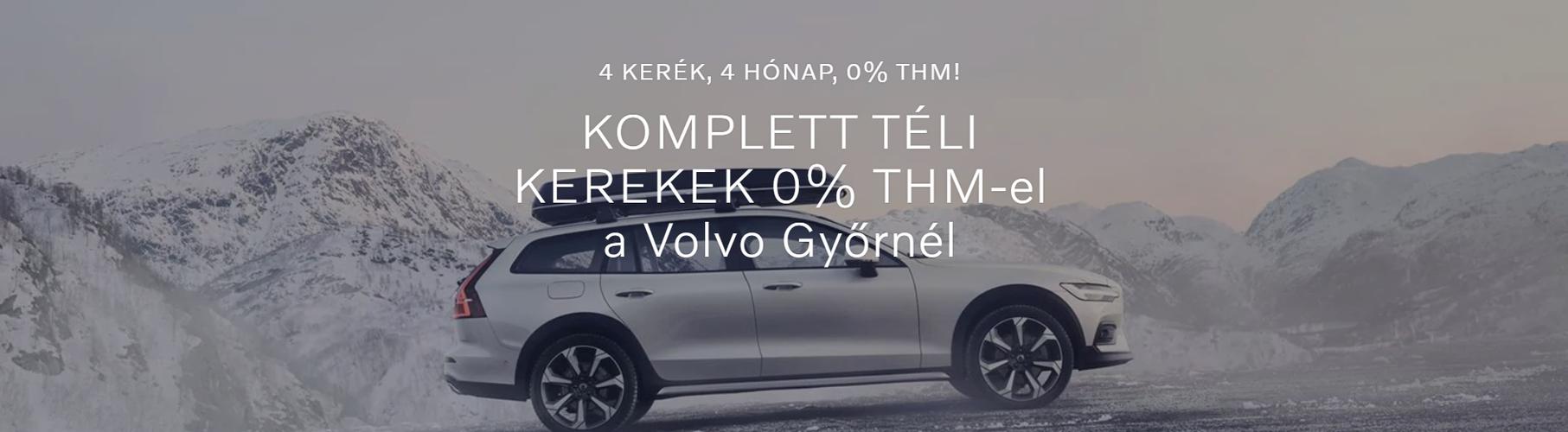 KOMPLETT TÉLI KEREKEK 0% THM-el a Volvo Győrnél.