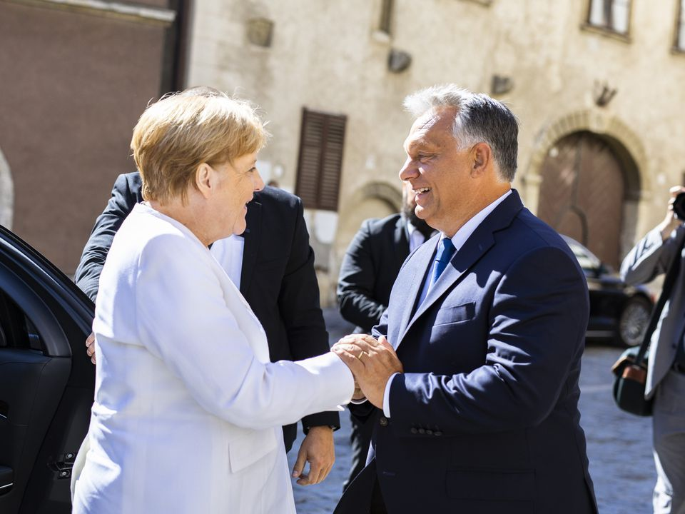 Angela Merkel and Viktor Orbán in Sopron