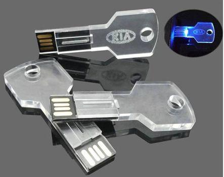 Akril kulcs pendrive
