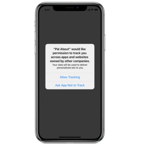 """A felugró ablakban azt olvashatjuk, hogy a """"Pal About"""" engedélyedet kéri, hogy más vállalatok alkalmazásain és weboldalain keresztül kövessen. Az adatgyűjtés következtében az adataid személyre szabott hirdetések készítéséhez lesznek felhasználva."""