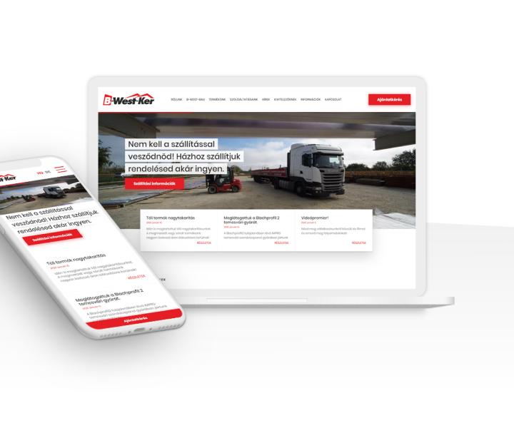 Weboldal generálkivitelezése sikeres építőipari vállalkozásnak