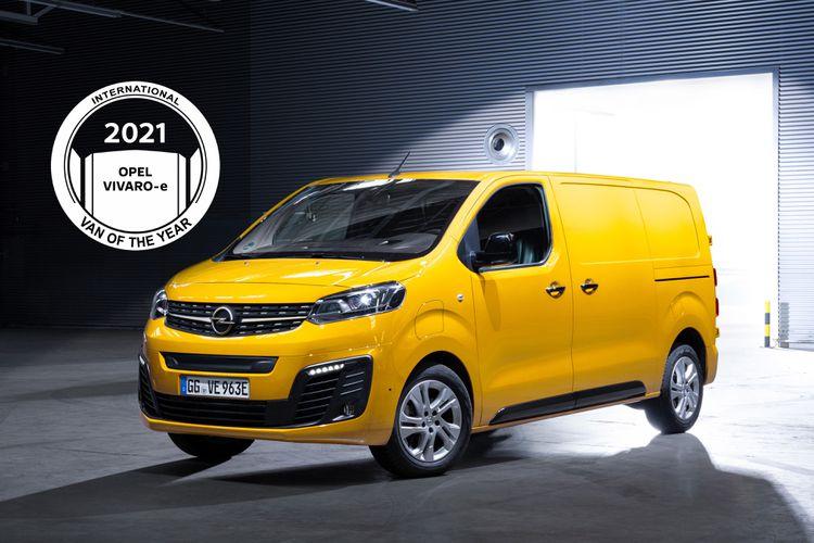 """Az új Opel Vivaro-e a """"Nemzetközi Év Haszonjárműve 2021"""" díj nyertese"""