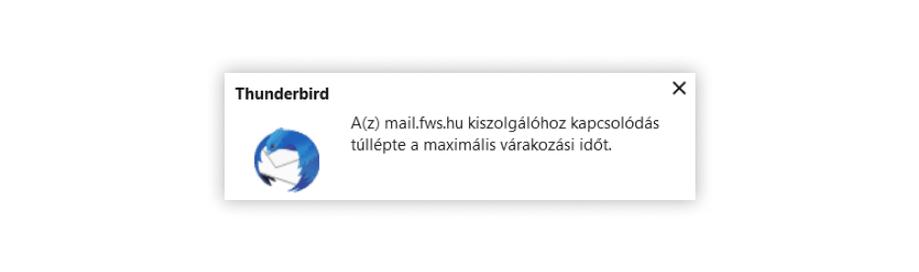 Ez az üzenet akkor ugrik fel, amikor valamiért nem lehet kapcsolódni a szerverhez. Ezt okozhatja rossz beállítás, rossz név-jelszó páros és valamilyen szerverrel kapcsolatos gond, például karbantartás is. Ilyenkor győződj meg a helyes név-jelszó párosról a webmail felületen, ha pedig ott sem működik, a teendő az ügyfélszolgálat hívása.