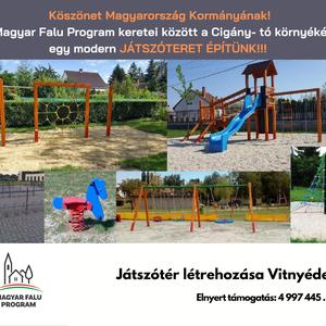 Magyar Falu Program - Játszótér kialakítása