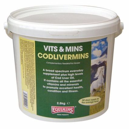 EQUIMINS CODLIVERMINS-Csukamájolajos vitamin 5kg