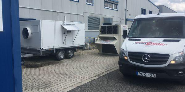 Csarnok klimatizálás - 60 kW + 40 kW