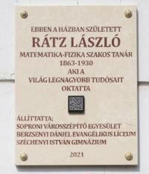 Felavatták Rátz László emléktábláját