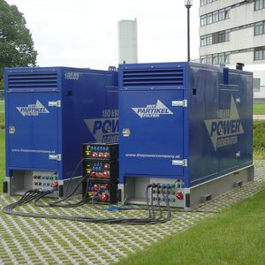 Stromaggregat 2x180 kVA - in Parallelbetrieb