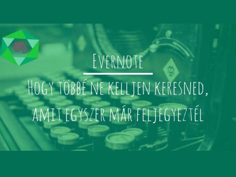 Evernote – a jegyzetelés királya