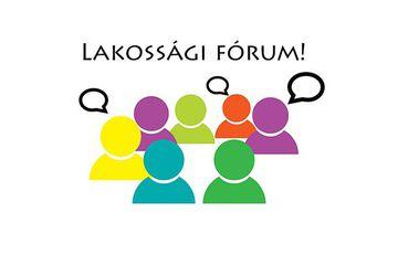Tájékoztató lakossági fórumról