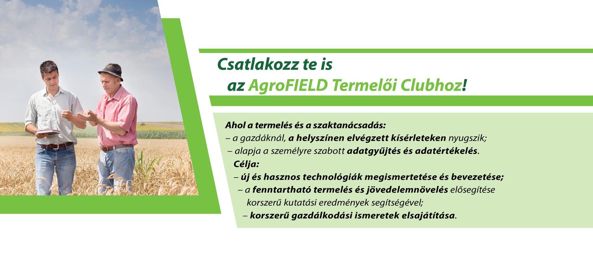AgroFIELD Termelői Club