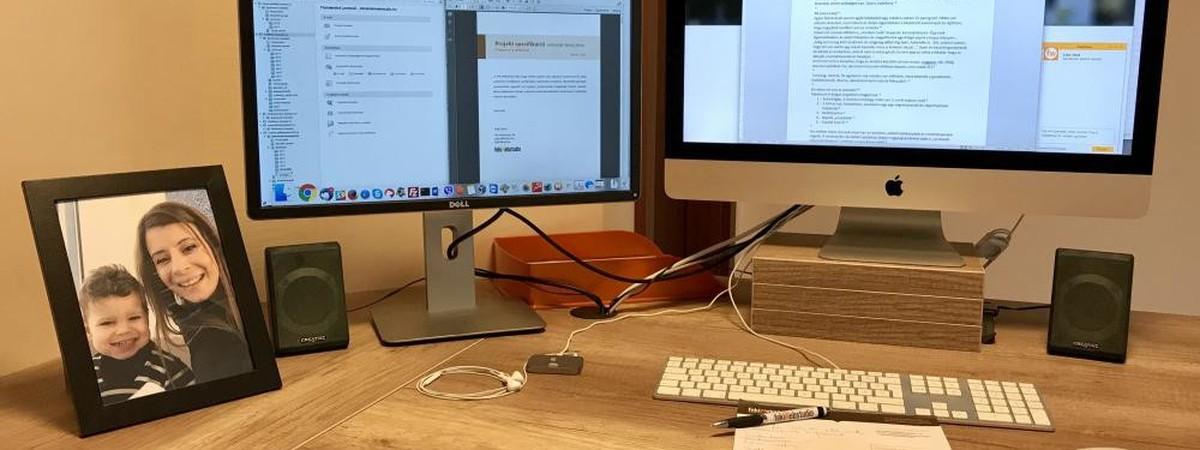 Rendezett asztal, hatékony munka
