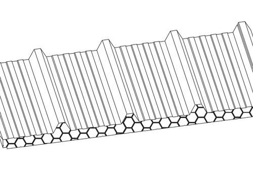 Dachsandwichplatte mit Mineralwolleisolierung