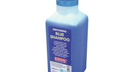 EQUIMINS BLUE SHAMPOO-Kék sampon szürke lovaknak 500ml