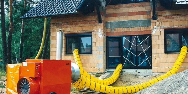 Fűtés és vakolat szárítás építkezésnél - 120 kW